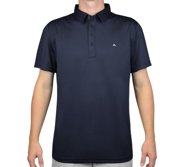 J. LINDEBERG LACHLAN COOL WAVE POLO NAVY/PURPLE - AW15