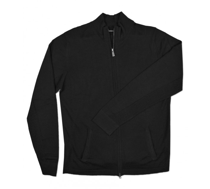 J. LINDEBERG LAURENT ACMERINO SWEATER BLACK - SS16