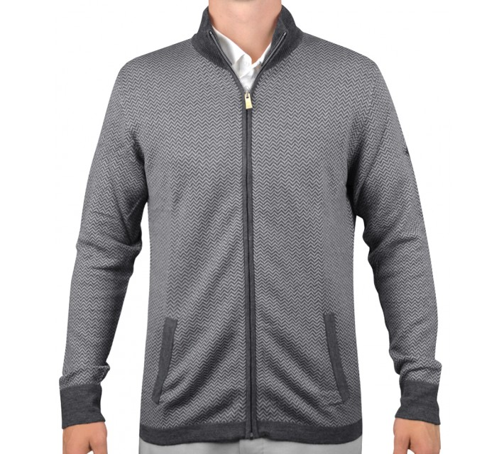 J. LINDEBERG LAURENT ACMERINO SWEATER DK GREY - AW15