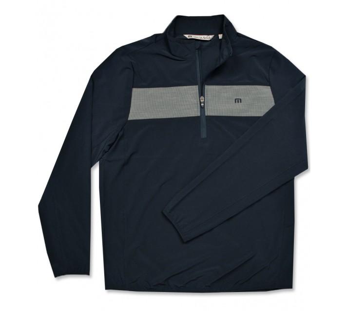 TRAVISMATHEW LAWSON 1/4 ZIP PULLOVER DRESS BLUES - AW16