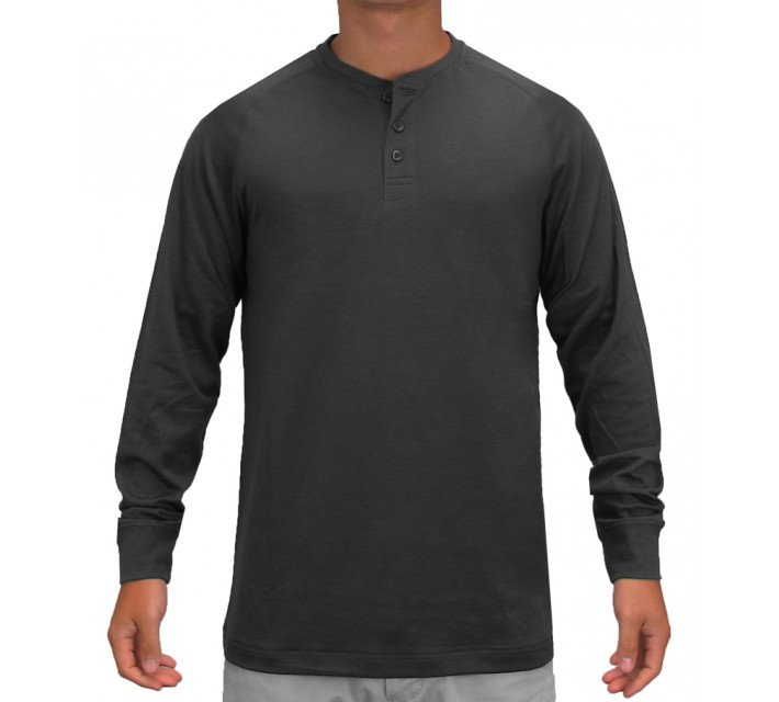 TRAVISMATHEW RED LEAF LS SHIRT DARK SHADOW - SS15