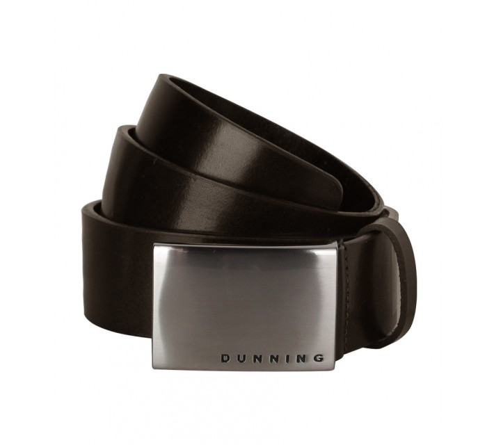 DUNNING LEATHER BELT BROWN - AW16