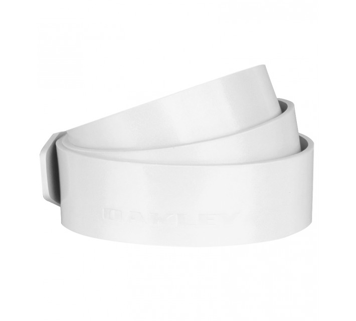 OAKLEY LEATHER BELT STRAP WHITE - AW15