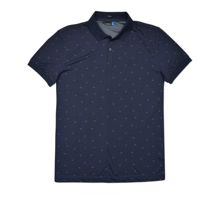 J. LINDEBERG LIAM TX JERSEY POLO NAVY/PURPLE - SS16