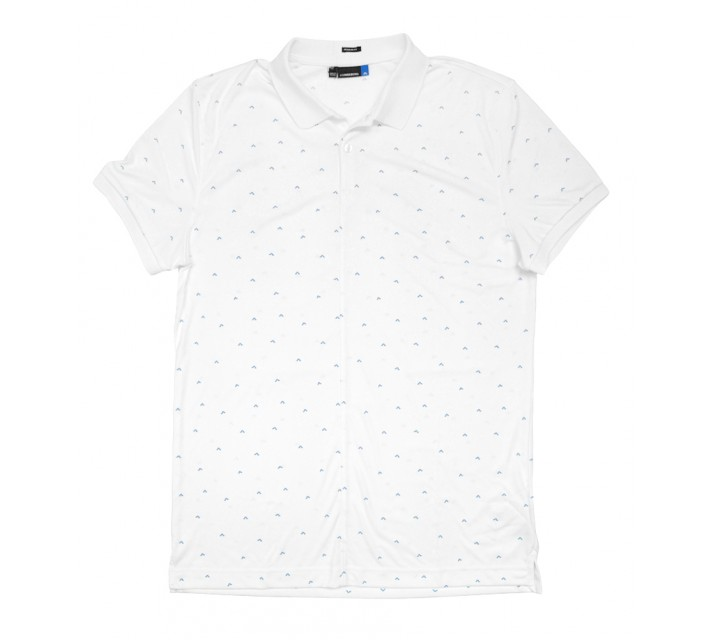 J. LINDEBERG LIAM TX JERSEY POLO WHITE - SS16