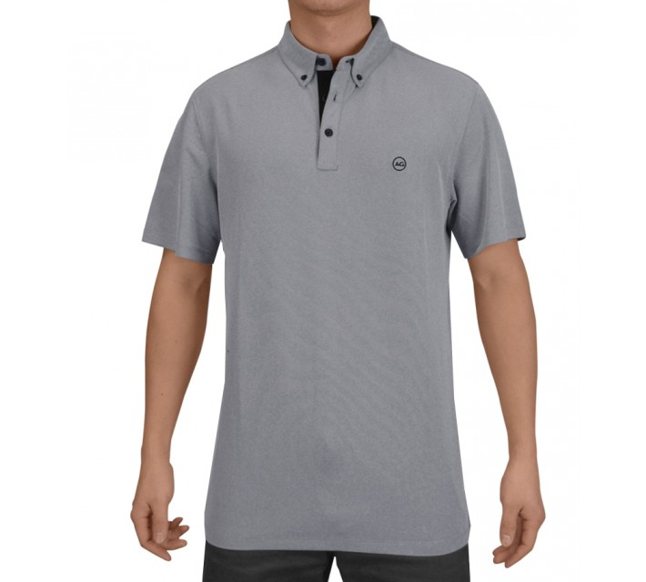AG GREEN LABEL THE LINKS POLO GREY/BLACK - SS15