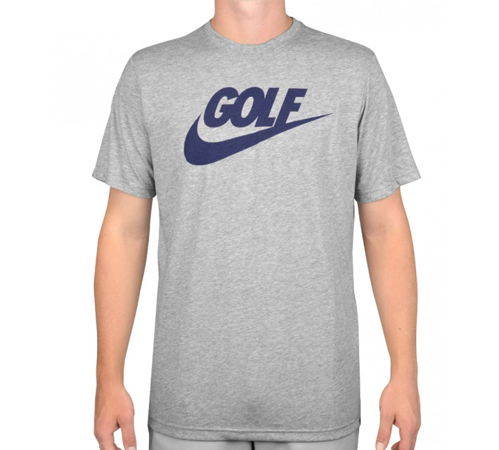 NIKE GOLF O LOCKUP TEE DARK GREY HEATHER - AW15 CLOSEOUT