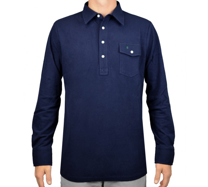 CRIQUET LONG SLEEVE PLAYERS SHIRT NAVY - AW15
