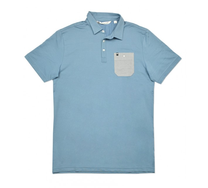 TRAVISMATHEW LONIE GOLF SHIRT PROVINCIAL BLUE - SS16
