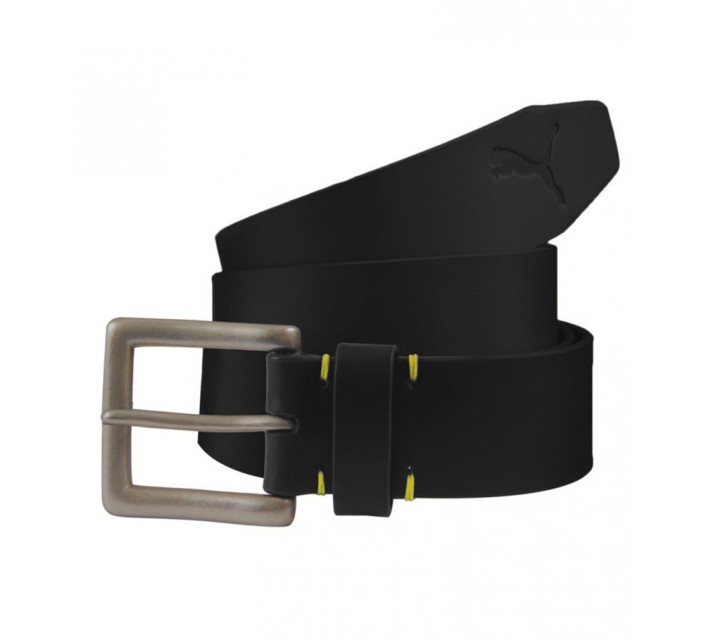 PUMA LOUIS BRIDLE FITTED BELT BLACK - AW15