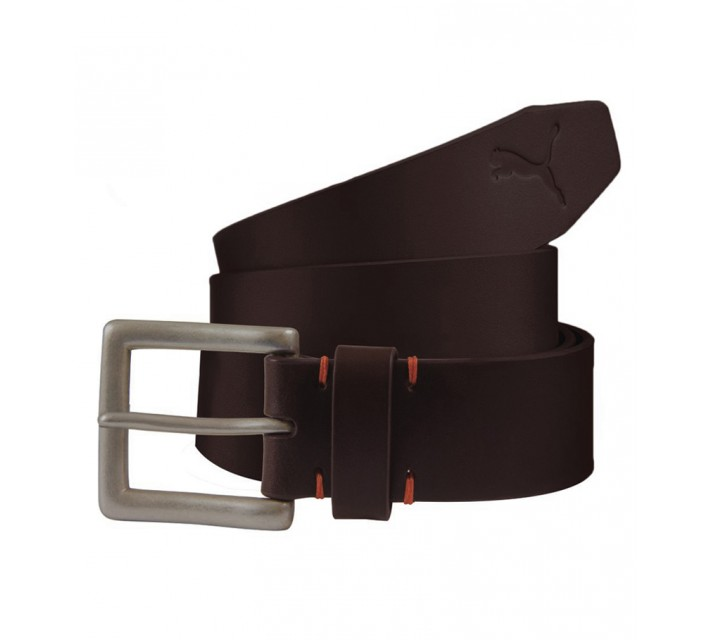 PUMA LOUIS BRIDLE FITTED BELT BROWN - AW15