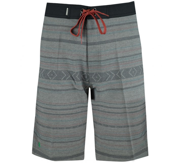 LINKSOUL 4-WAY STRETCH TEXTURED BOARDSHORT GREY MULTI STRIPE - AW15