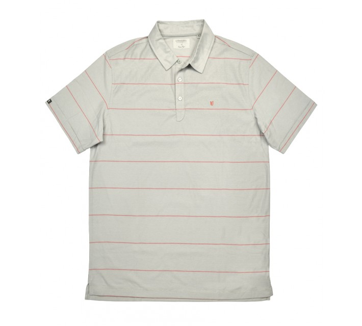 LINKSOUL INNOSOFT COTTON YD MICRO STRIPE POLO PERSIMMON - SS16