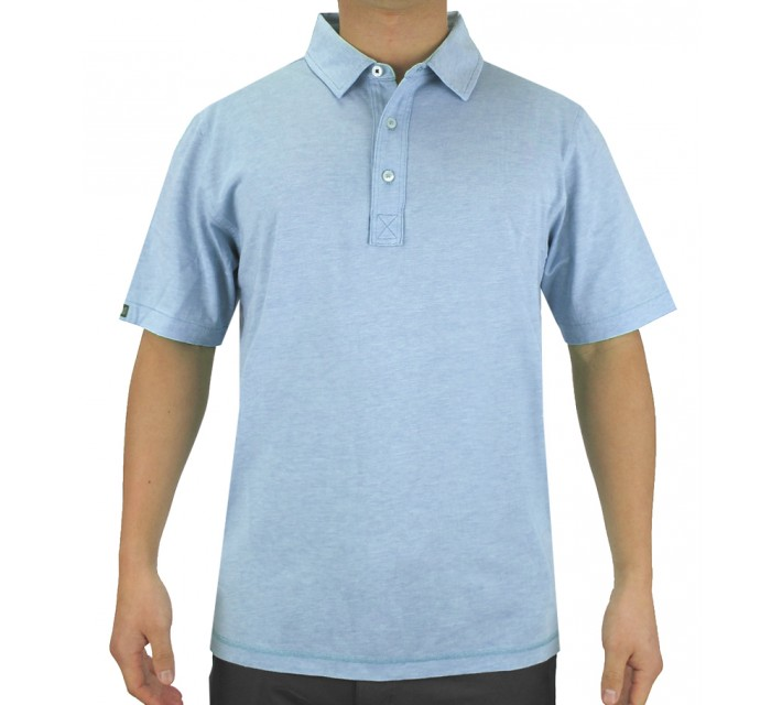 LINKSOUL INNOSOFT COTTON END STRIPE POLO OCEAN - SS15
