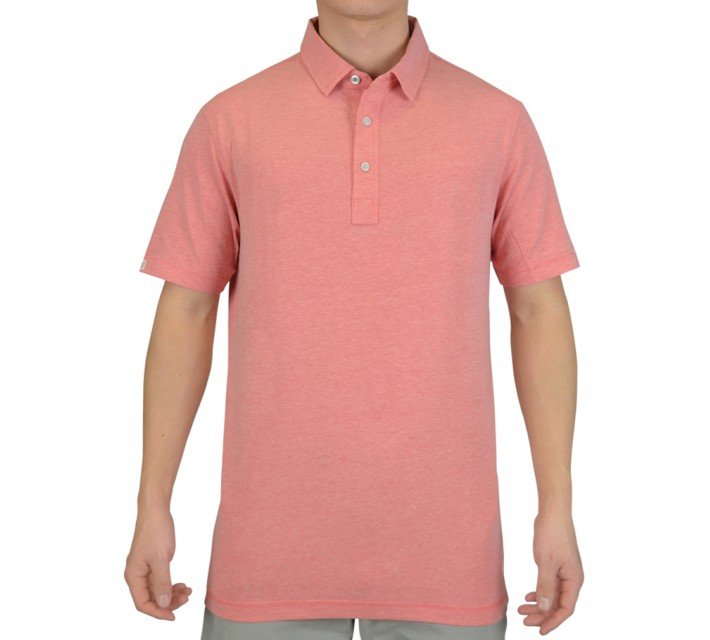 LINKSOUL COTTON BLEND STRETCH POLO SUNWASH HEATHER - SS15