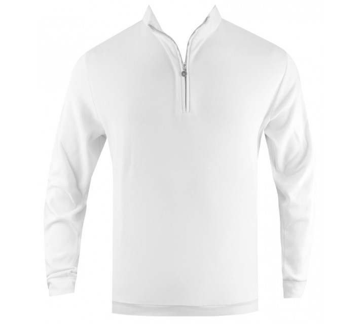 LINKSOUL 1/4 ZIP INTERLOCK WHITE - SS16