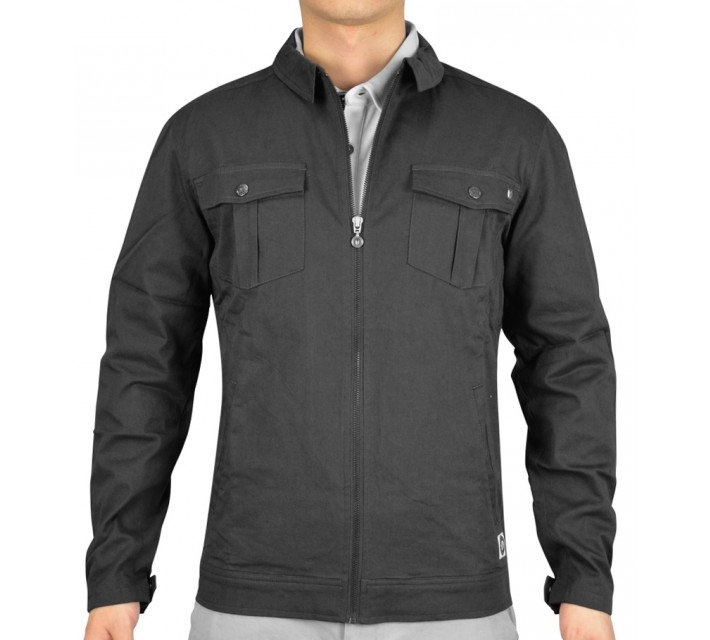 LINKSOUL BRUSH TWILL FULLY LINED JACKET CHARCOAL - SS15