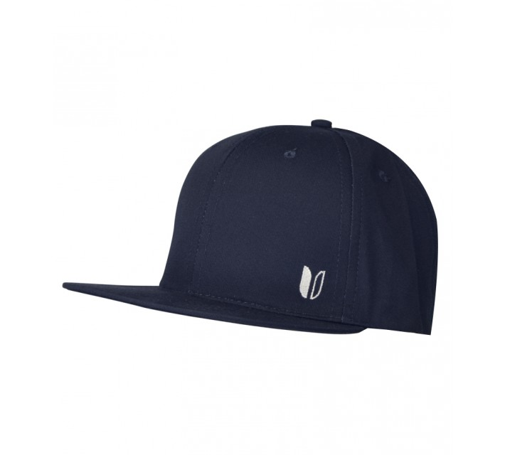 LINKSOUL CHINO TWILL STRUCTURED FLAT BILL HAT MIDNIGHT NAVY - SS15