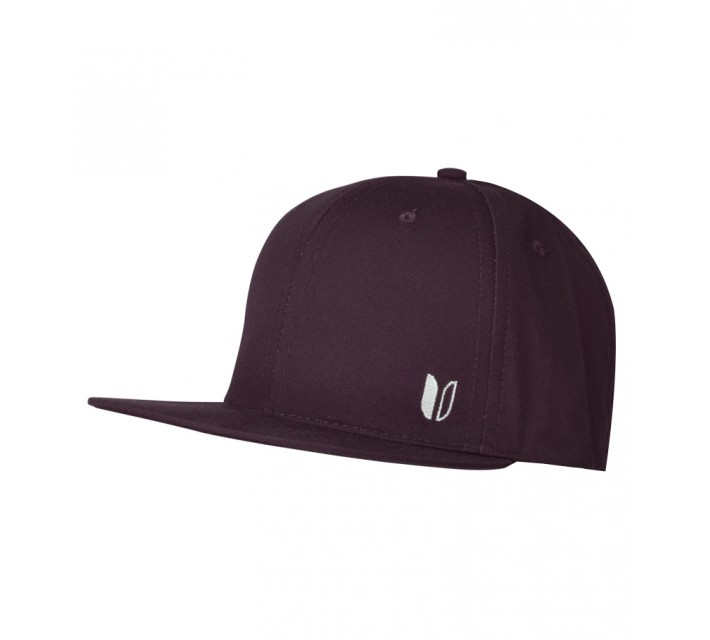 LINKSOUL CHINO TWILL STRUCTURED FLAT BILL HAT WINE - SS15