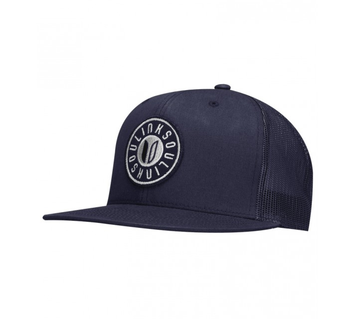 LINKSOUL CHINO STRUCTURED TWILL TRUCKER HAT NAVY - SS16