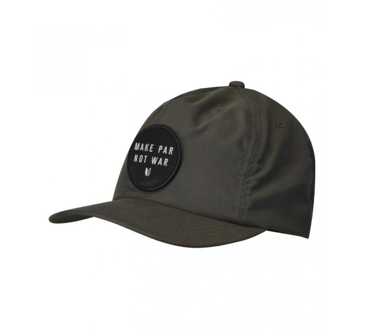 LINKSOUL CHINO TWILL EMBLEM PATCH HAT BLACK - AW15