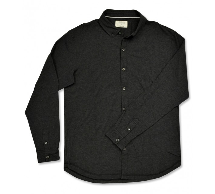 LINKSOUL DRY-TECH STRETCH LS BUTTON DOWN SHIRT BLACK HEATHER - AW16