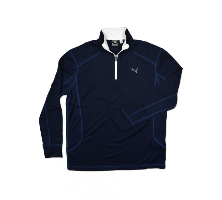PUMA JUNIOR BOYS GOLF 1/4 ZIP PULLOVER PEACOAT - SS16