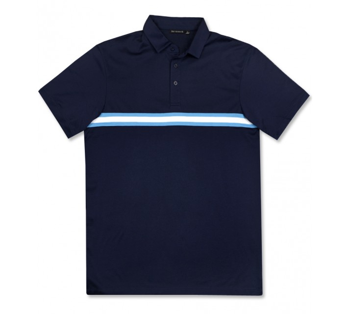 DEVEREUX LUCAS POLO NAVY/PURA VIDA/WHITE - AW16