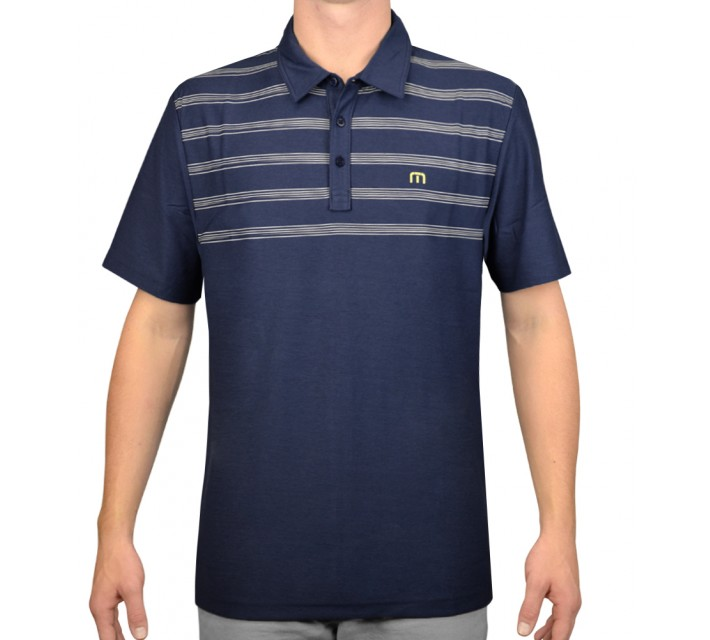 TRAVISMATHEW GOLF SHIRT LUNADA MEDIEVAL BLUE - AW15