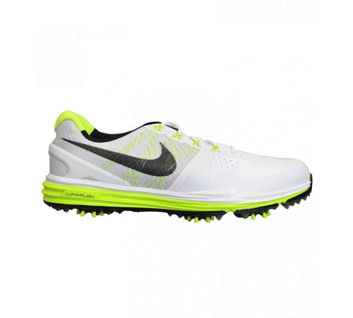 NIKE LUNAR CONTROL 3 GOLF SHOE WHITE/VOLT - AW15 CLOSEOUT