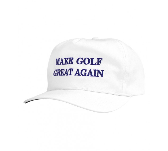MATTE GREY MAKE GOLF GREAT AGAIN SNAPBACK CAP WHITE - SS16