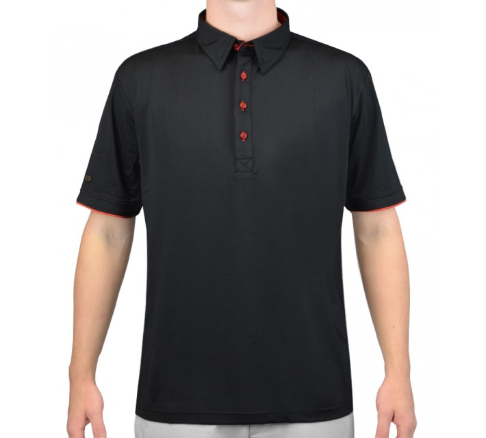 G-MAC MALONE GOLF POLO BLACK/RED CLAY - AW15