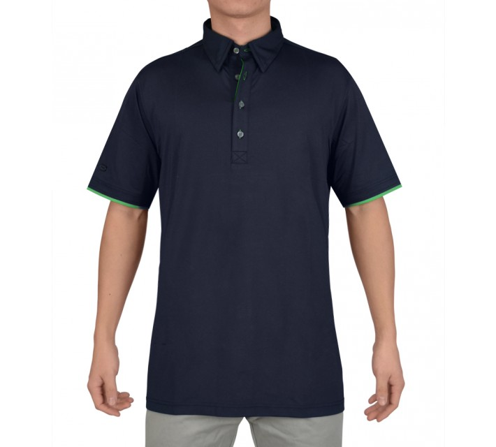 G-MAC MALONE POLO NAVY/SPORTGREEN - SS15