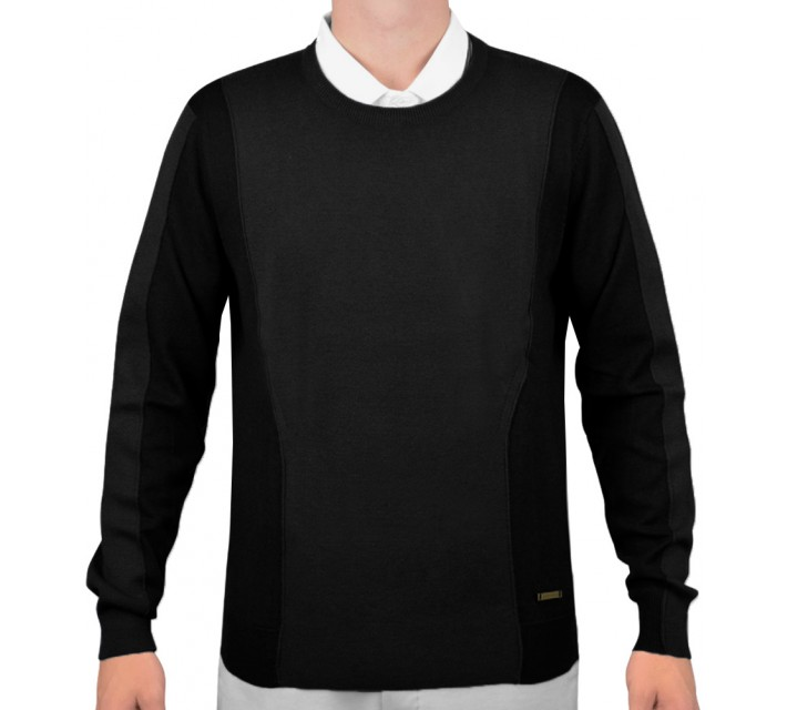 J. LINDEBERG MARCEL TECH WOOL SWEATER BLACK - AW15