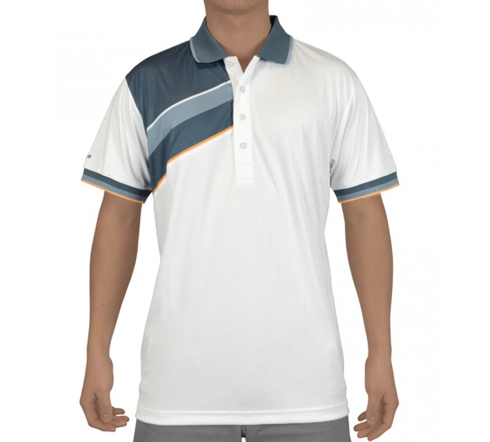 SLIGO MARSHALL GOLF POLO WHITE - SS15