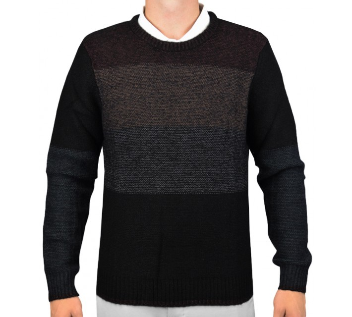 J. LINDEBERG MARVIN HEAVY KNIT SWEATER BLACK - AW15