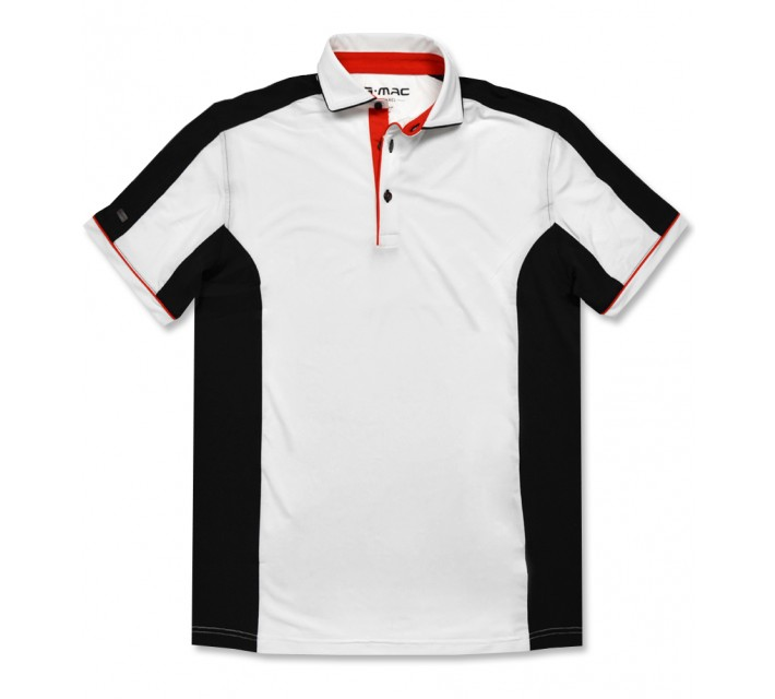 G-MAC MCHATCH POLO WHITE/BLACK/FIERY RED - AW16