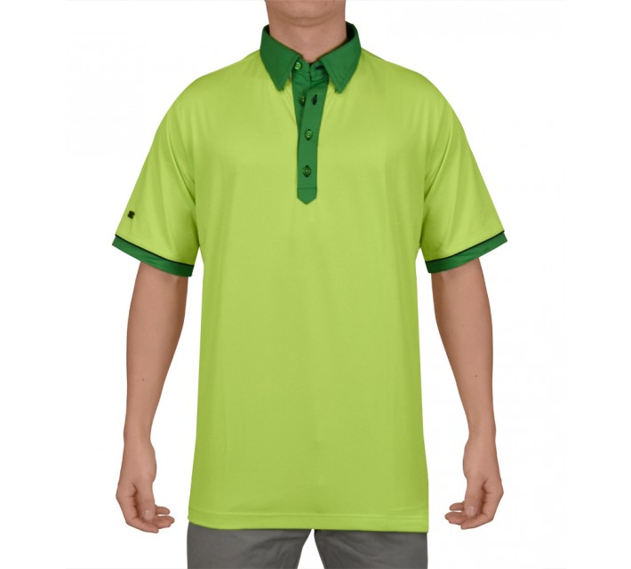 G-MAC MCMESH POLO LIMELIGHT - SS15