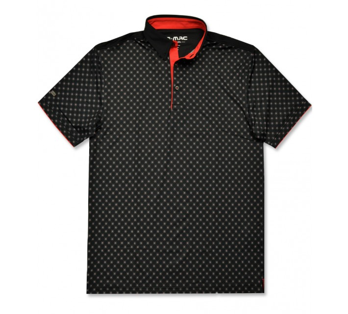 G-MAC MCNORTH POLO BLACK/FIERY RED - AW16