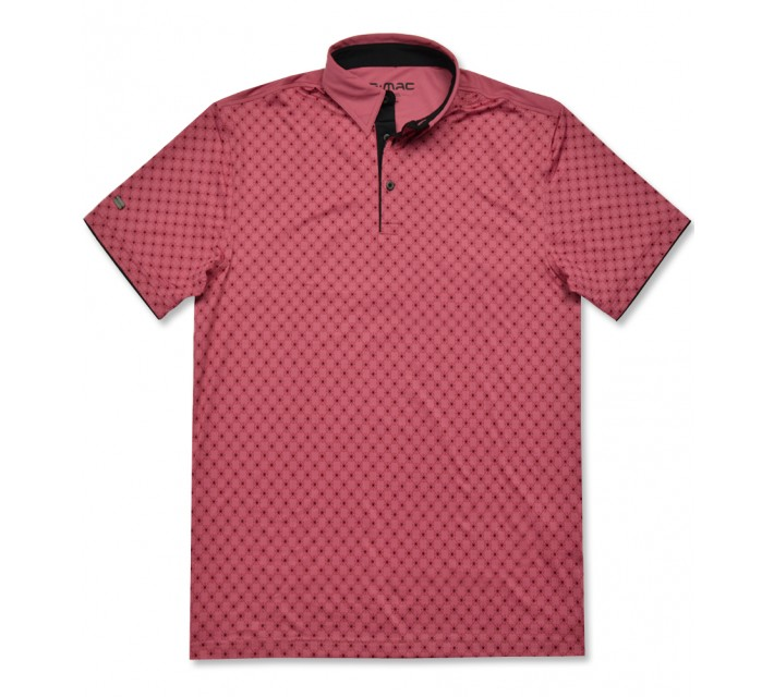 G-MAC MCNORTH POLO CLARET RED/BLACK - AW16