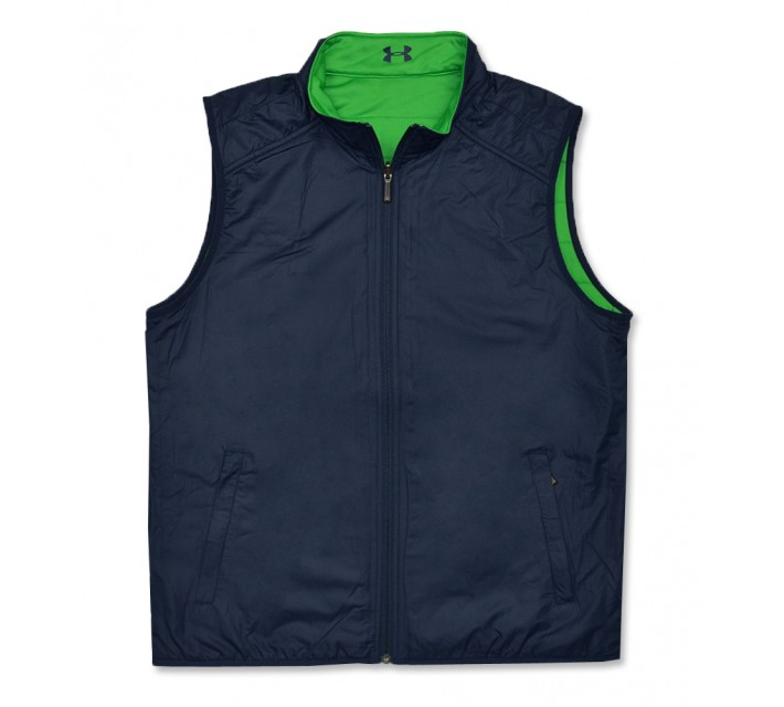 UNDER ARMOUR MEDAL PLAY REVERSIBLE VEST ACADEMY/PUTTING GREEN - AW16