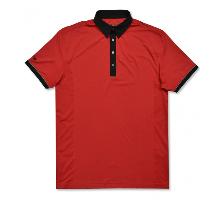 G-MAC MCMESH POLO FIERY RED/BLACK - AW16