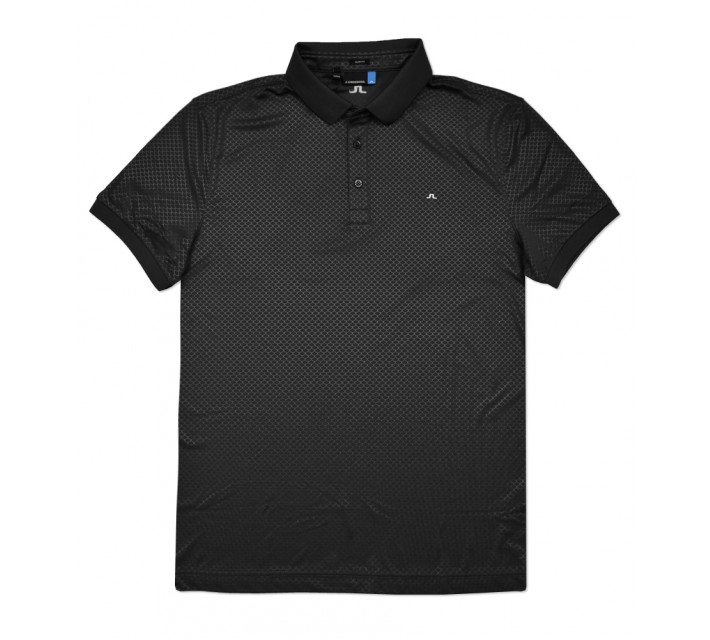 J. LINDEBERG MICHAEL SCALE TX JERSEY POLO BLACK - SS16