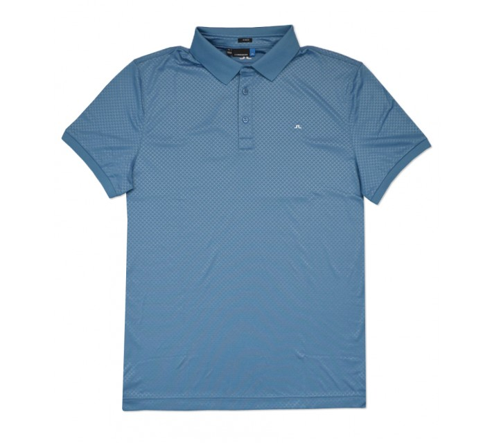 J. LINDEBERG MICHAEL SCALE TX JERSEY POLO BLUE DUST - SS16