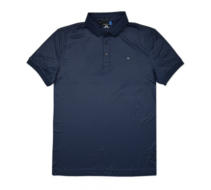 J. LINDEBERG MICHAEL SCALE TX JERSEY POLO NAVY/PURPLE - SS16