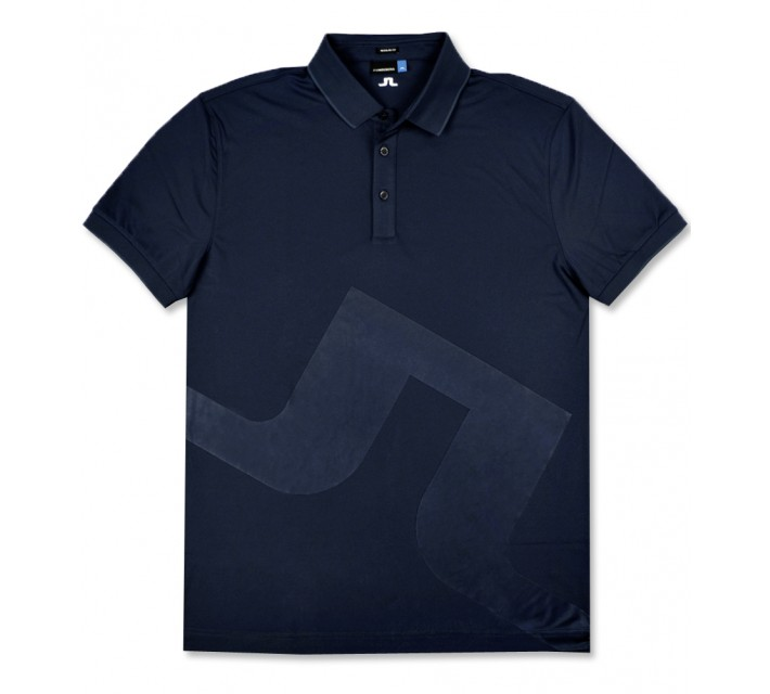 J. LINDEBERG MILTON TX+ COOLING POLO NAVY PURPLE - AW16
