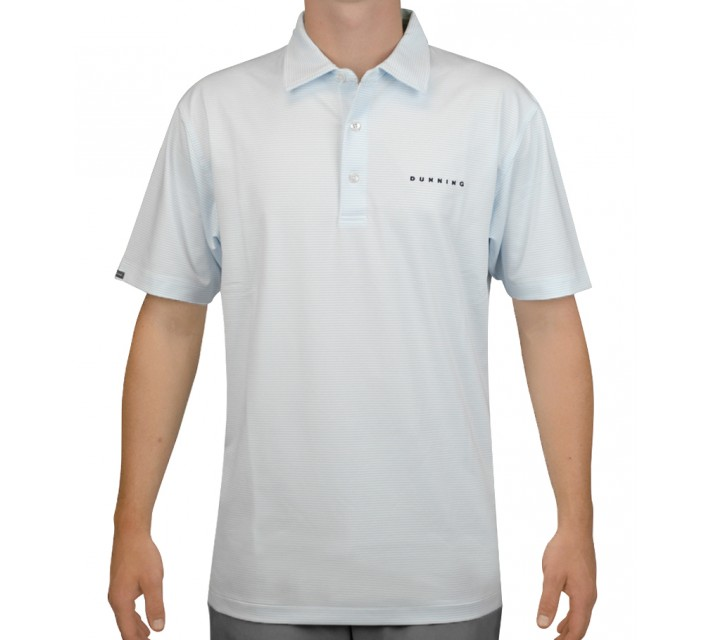 DUNNING STRETCH MINI STRIPE JERSEY POLO WHITE - AW15