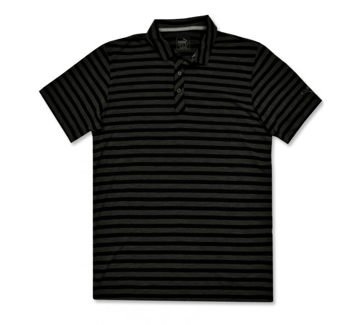 PUMA MIXED STRIPE POLO BLACK - AW16