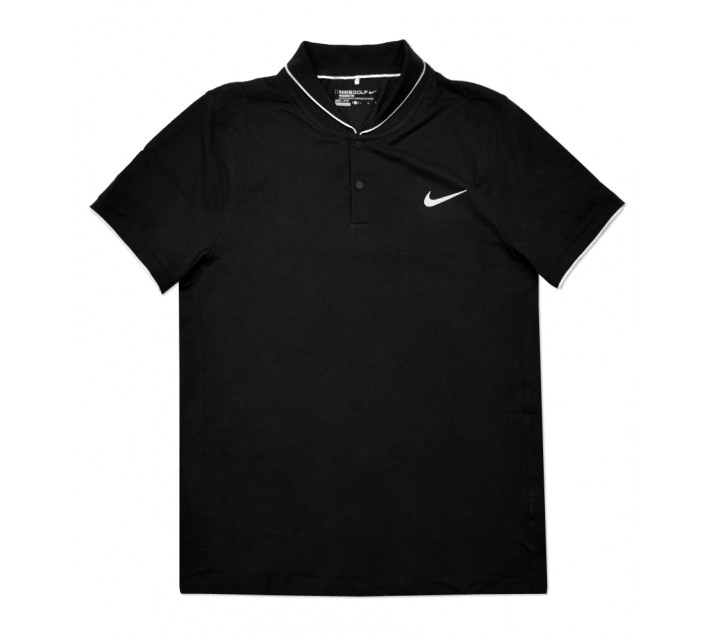 NIKE MAJOR MOMENT FLY ROLL POLO BLACK - SS16 CLOSEOUT