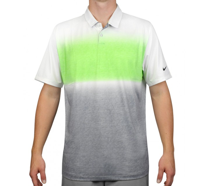 NIKE MOBILITY GRADIENT POLO GREEN STRIKE - AW15 CLOSEOUT